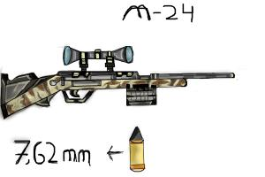 M-24 Bolt Action rifle(7.62 x 51 mm)