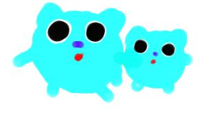 mama bluebarry and baby bluebarry