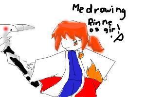 Me try drawing Rinne as a girl :P