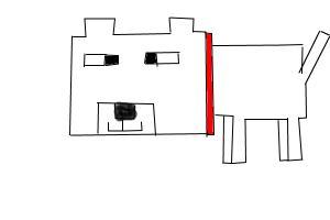 how to draw a minecraft dog