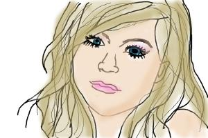 My drawing of Avril Lagivne