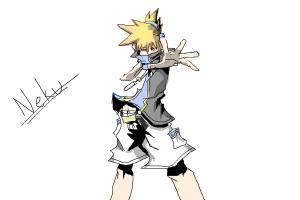 Neku from World Ends With You requested by anidas10