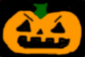 Nice pumpkin trying to be evil