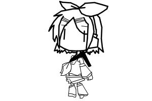 (No Color) how to draw Rin Kagamine