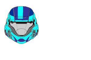 ODST Helmet(cyan and blue)