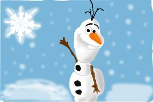 Olaf the Snowman from queen frozen