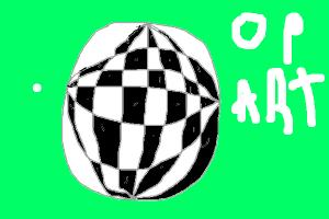 op art ball