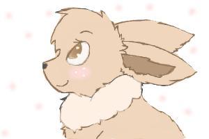 Pokemon Eevee in my style ~ Wolfiee