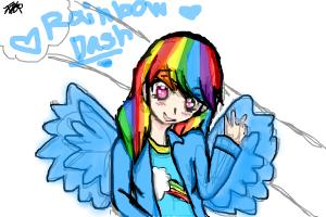 Rainbow Dash anime girl version