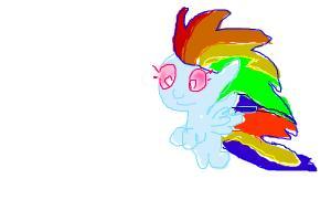 Rainbow dash as a baby