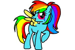 Rainbow Dash Rainbow Rocks ponyfied