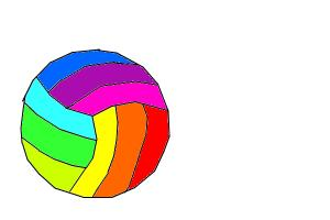 Rainbow Volleyball