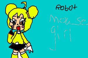 robot mouse girl