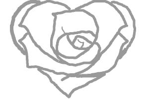 rose and heart