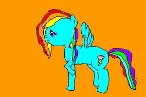 Sad Rainbow Dash