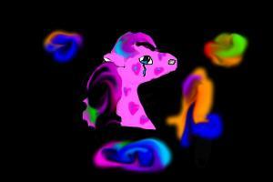 sad swirl horse