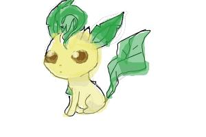 scribble leafeon