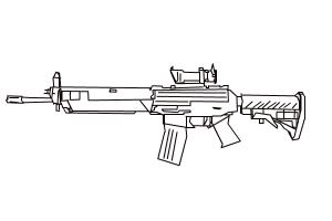 SG 553 from Counter Strike