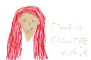 simple colorful hair