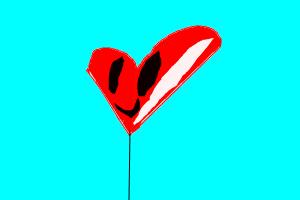 Simple Heart Face Balloon