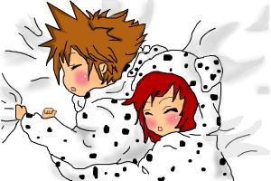Sora and Kairi Doggy Cosplay