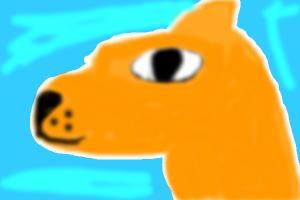 spray painted fox