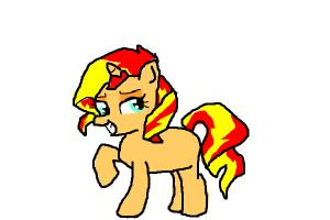 sunset shimmer from mlp eg