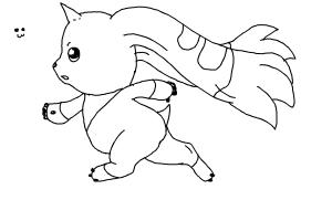 Terriermon running