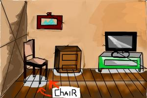 The chair and living room (18th)