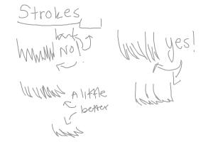 Tips for Strokes When drawing Hair