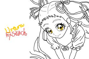 Urara from Pretty Cure (Sketch by crystalfox)