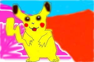 Very Badly Drawn Pikachu From Pokemon