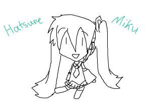 Vocaloid miku doodle