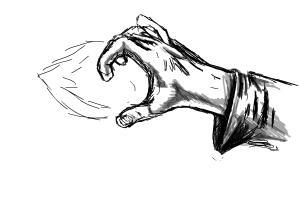 Weird Hand Pose