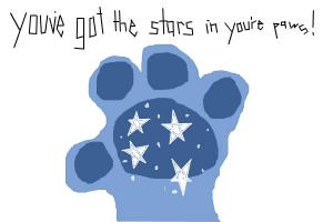 youve got the stars in youre paws!