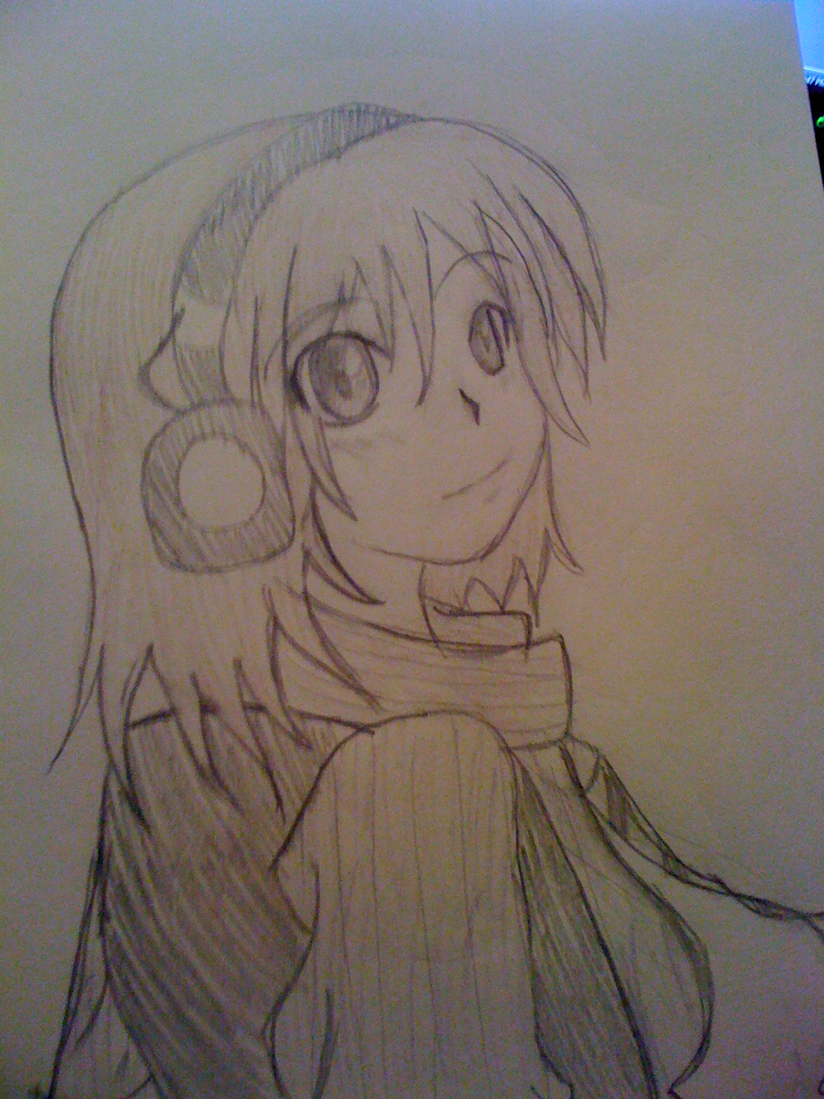 Anime Girl With Headphones - Picture By Lilpri - DrawingNow