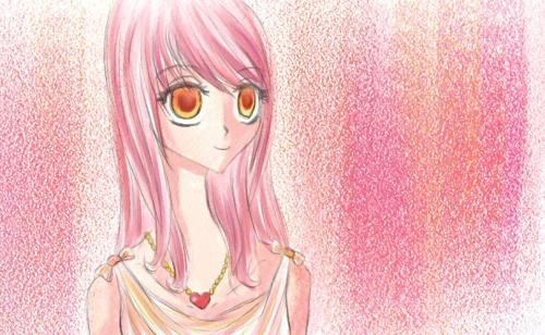 random pink haired manga girl' xD