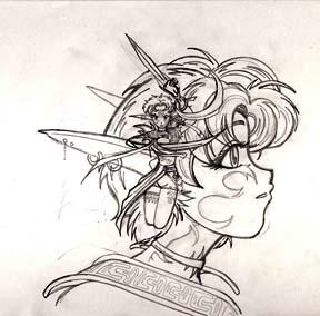 Anime Art Elven Sketch