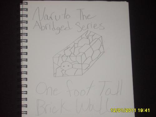 Naruto The Abridged Series One Foot Tall Brick Wall