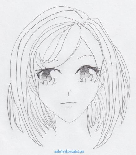 Manga Girl Front View