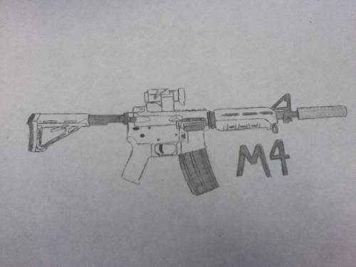 M4 Assault Rifle Picture By Dkl121 Drawingnow