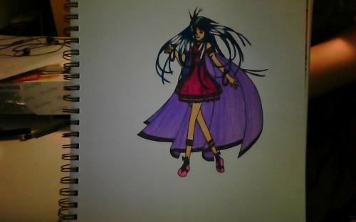 Girl with a cape