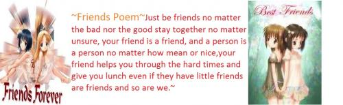 ~Friends Poem~