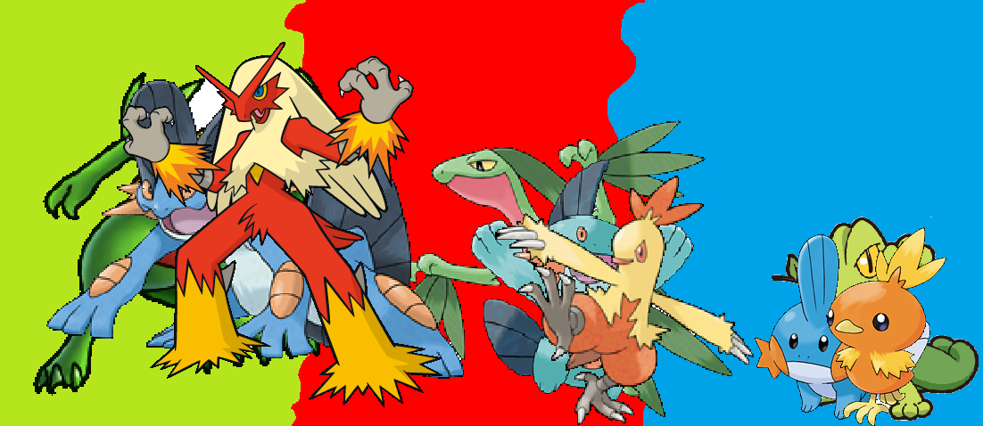 Hoenn Starters Wallpaper - picture by Zorua231 - DrawingNow