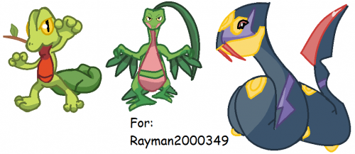 Treecko,Grovyle and Seviper Drawing's For Rayman2000349