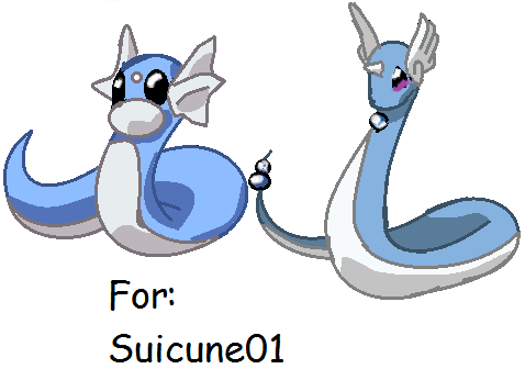 Dratini and Dragonair,For Suicune01
