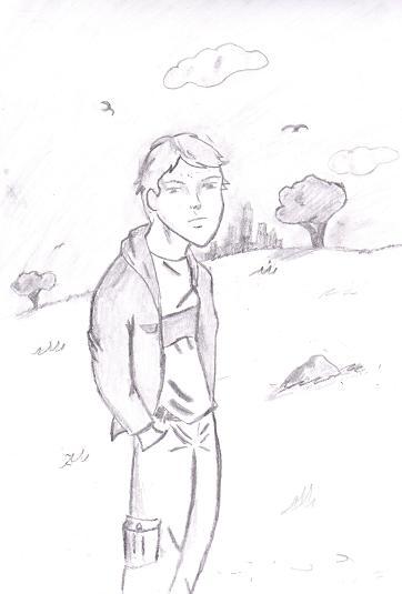 boy on a hillside