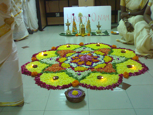 Atha Poo A Flower Decoration During The Festival Of Onam