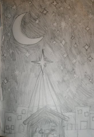 Nativity Scene Sketch Picture By Toons27 Drawingnow