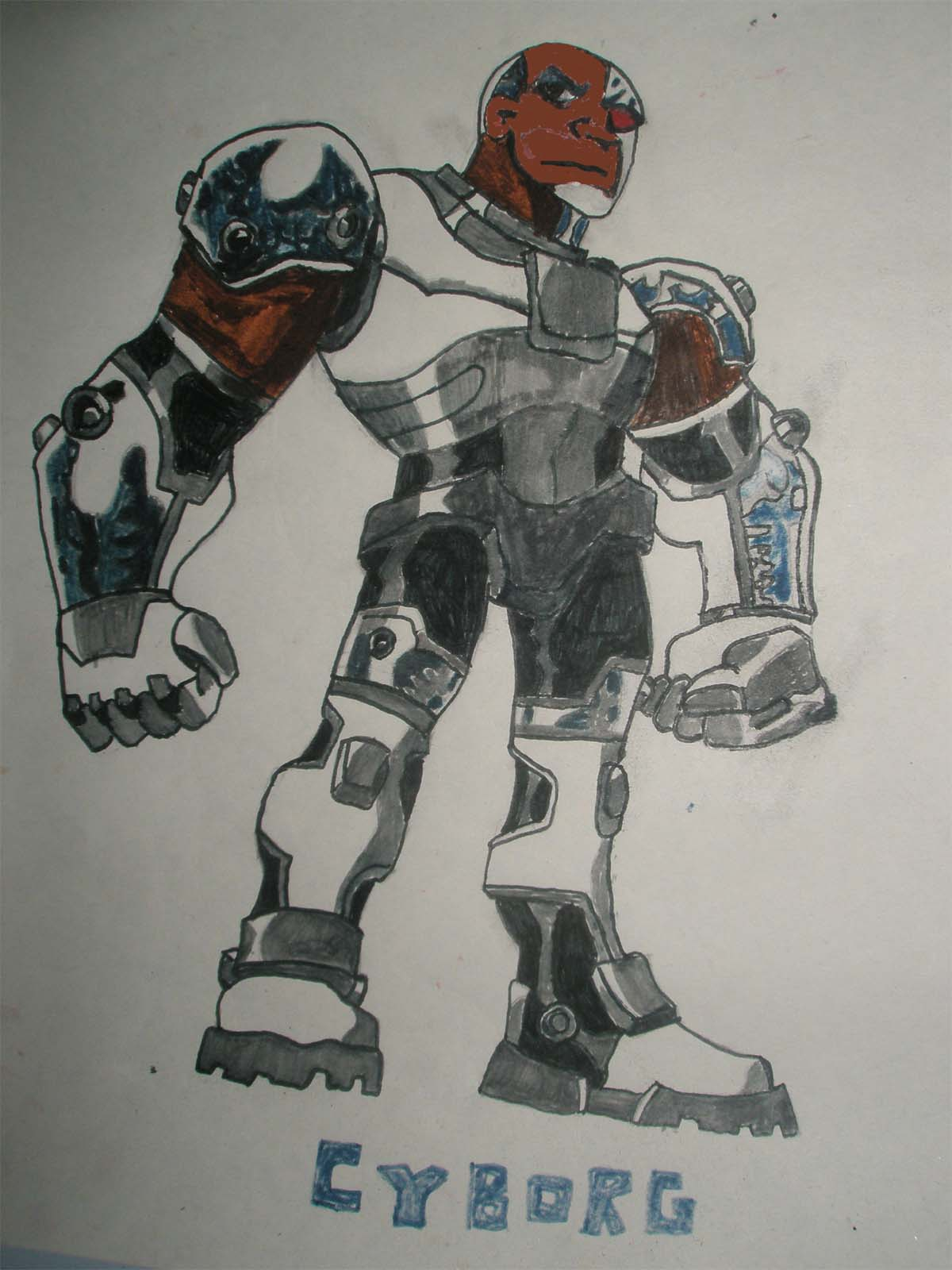 Cyborg - Picture By Toons27 - DrawingNow